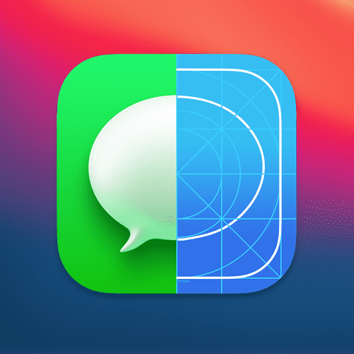 iOS 14 Messages icon grid alignment